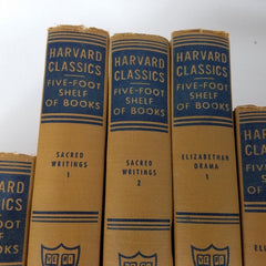 Vintage Books | Harvard University | Harvard Classics Five-Foot Shelf of Books | Full Set of 51 | Sterling and Burke Ltd | Vintage 1950-Antique Artifact-Sterling-and-Burke
