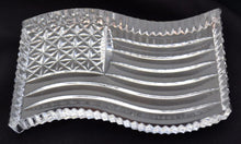 Load image into Gallery viewer, Waterford Crystal US Flag Paperweight-Crystal-Sterling-and-Burke