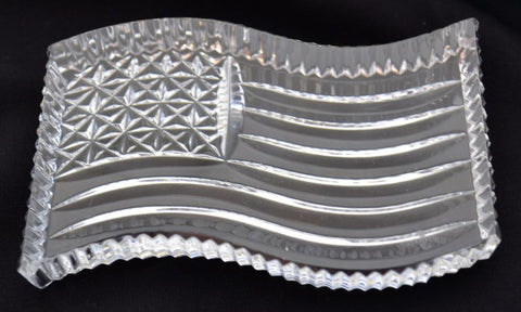 Waterford Crystal US Flag Paperweight-Crystal-Sterling-and-Burke