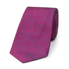 Budd Wavy Textured Plain Silk Tie, Various Colors-Necktie-Sterling-and-Burke