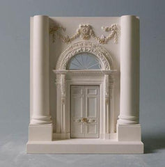 White House Architectural Sculpture | Custom Whites House Plaster Model | High Quality Detail | Made in England | Timothy Richards-Desk Accessory-Sterling-and-Burke