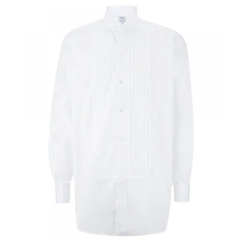 Budd Formal | Wing Collar Hand Pleated Dress Shirt | White Tie / Black Tie Attire | White Shirt | Budd Shirtmakers | Made in England-Dress Shirt-Sterling-and-Burke