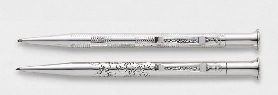 Sterling Silver Writing Instrument Set | The Chapel Royal Wedding Commemorative Set | Prince Harry and Meghan Markle | Absolute Finest Quality Sterling Silver Pen | Made in England | Yard-O-Led-Pen-Sterling-and-Burke