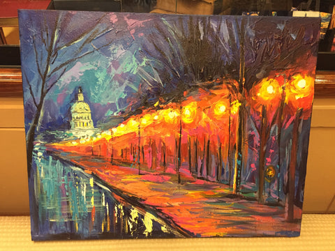 "Capitol Building Art | Washington, DC Art | Original Oil and Acrylic Painting on Canvas by Zachary Sasim | 24"" by 30"" 