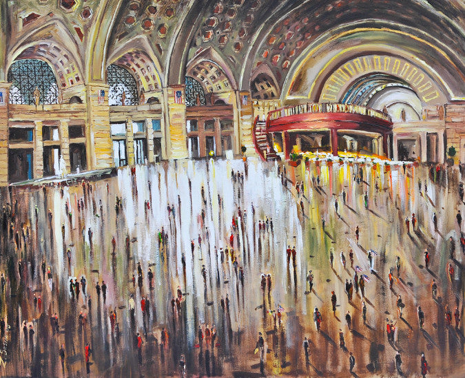 Union Station, American Dream | Original Oil and Acrylic Painting | 30 by 40 | Zachary Sasim | sold-Acrylic Painting-Sterling-and-Burke