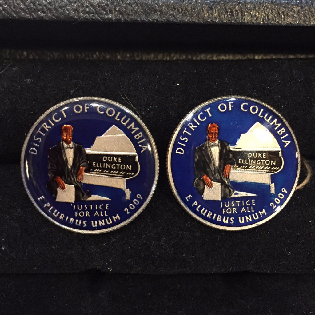 District Of Columbia Quarter Coin Cufflinks, Navy-Coin Cufflinks-Sterling-and-Burke