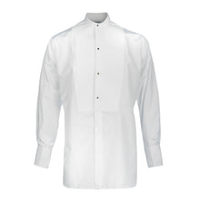Load image into Gallery viewer, Budd Classic Fit Marcella Semi-Stiff Neckband Dress Shirt in White-Dress Shirt-Sterling-and-Burke