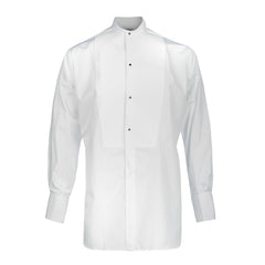 Budd Classic Fit Marcella Semi-Stiff Neckband Dress Shirt in White-Dress Shirt-Sterling-and-Burke