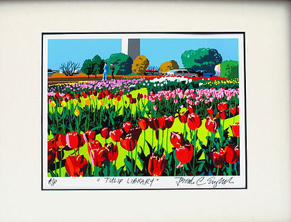 Tulip Library Print, 14 by 18 Inches-Graphic Art-Sterling-and-Burke