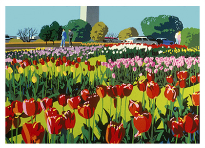 "Tulip Library | Giclee on Canvas by Joseph Craig English | 30"" x 40"""