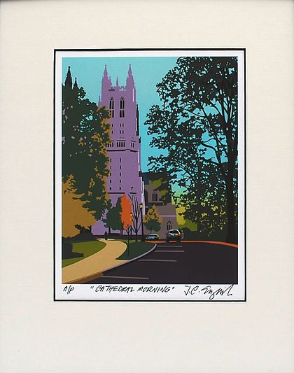 Cathedral Morning Print, 14 by 18 Inches-Graphic Art-Sterling-and-Burke