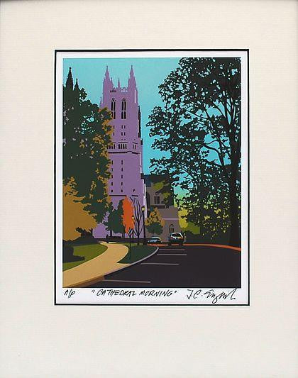 Cathedral Morning Print, 11 by 14 Inches-Graphic Art-Sterling-and-Burke