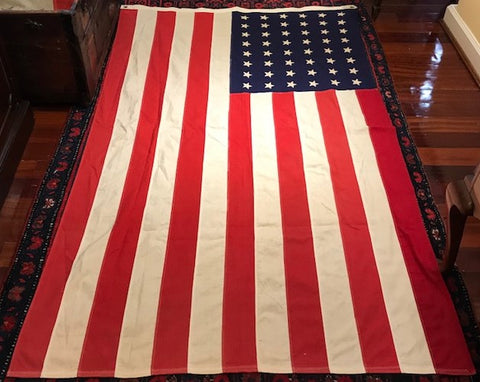 "48 Star American Flag | Cotton | Hand Made | 46"" x 71"""