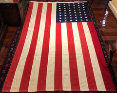 "48 Star American Flag | Cotton | Hand Made | 46"" x 71""-Vintage Flag-Sterling-and-Burke"