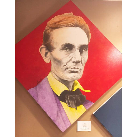 Red Abe | President Lincoln by Artist, Andres Acosta-Presidential Portrait-Sterling-and-Burke