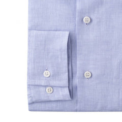 Budd Casual Fit Plain Linen Button Cuff Shirt in Lilac-Ready Made Shirt-Sterling-and-Burke