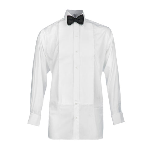 Budd Classic Fit Plain Marcella Double Cuff Dress Shirt in White-Dress Shirt-Sterling-and-Burke