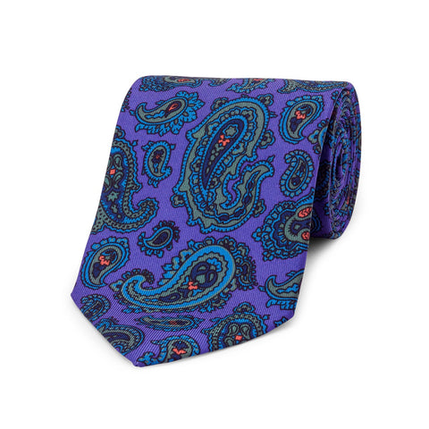 Large / Medium Paisley Madder Tie | Budd Shirtmakers | Made in England-Necktie-Sterling-and-Burke