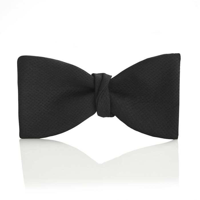 Budd Plain Marcella Thistle Bow Tie in Black-Bow Tie-Sterling-and-Burke