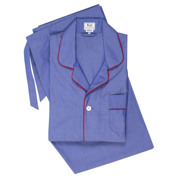 Budd Batiste Men's Pajamas in Navy and Red-Pajamas-Sterling-and-Burke