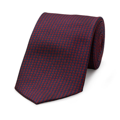 Budd Diced Bi-Colored Woven Silk Tie in Various Colors