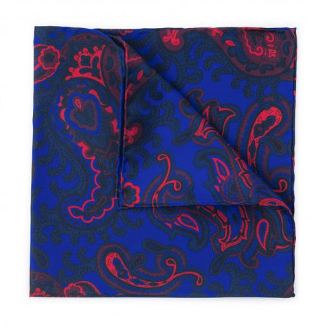 Paisley Pocket Square | Premium Silk | Made in England by Budd Shirtmakers
