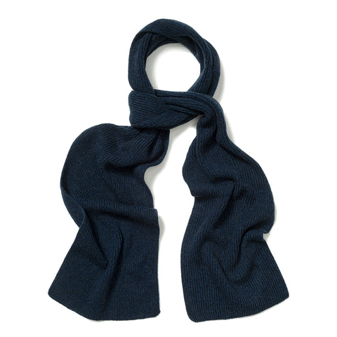 Budd Plain Cashmere Ribbed Scarf in Cosmos