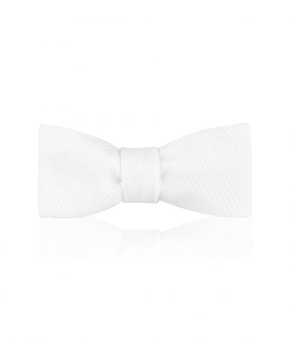 Budd Plain Marcella Batswing Bow Tie in White-Bow Tie-Sterling-and-Burke