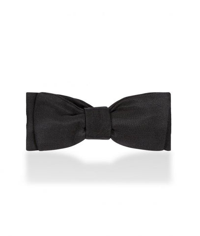 Budd Barathea Batswing Sized Bow Tie in Black