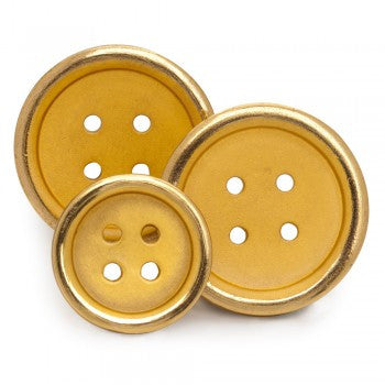 Four Hole Single Breasted Blazer Button Set, Gilt