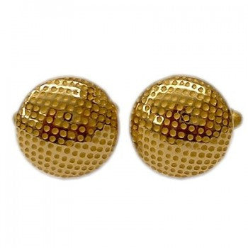 Golf Ball T-Bar Cufflinks, Gold-Cufflinks-Sterling-and-Burke