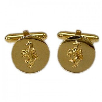 Horse Mounted Gilt T-Bar Cufflinks