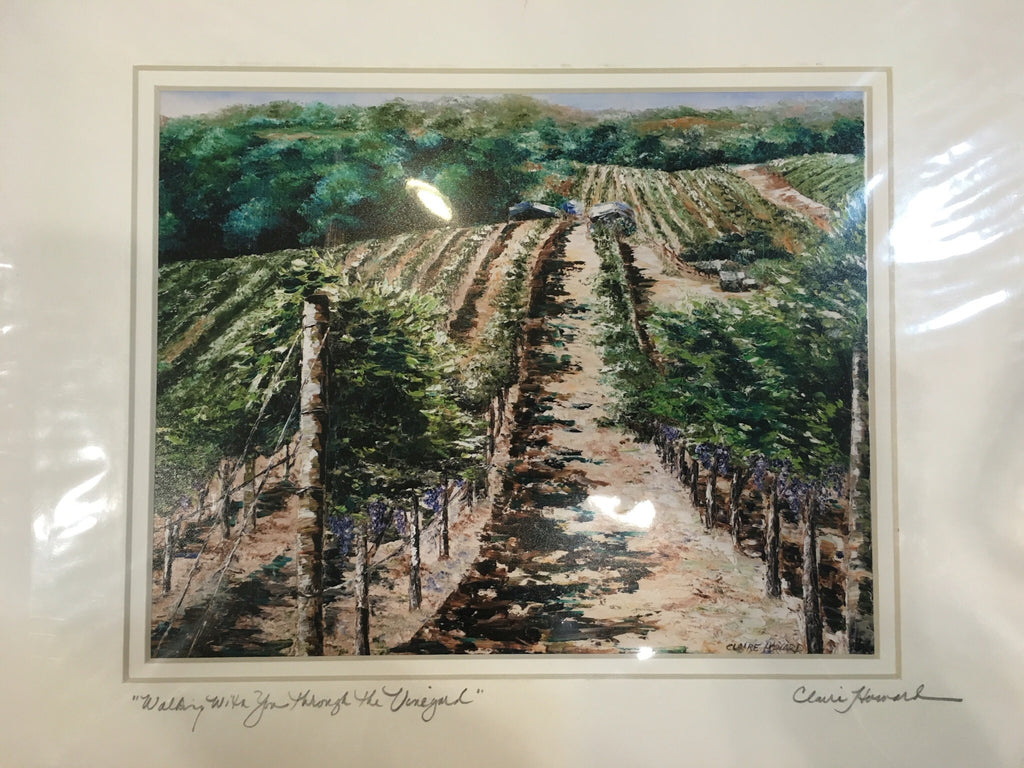 "Art | Walking With You Through the Vineyard | Giclee with Mat | 10"" x 8""-Giclee Print-Sterling-and-Burke"