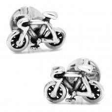 Moving Bicycle Cufflinks-Cufflinks-Sterling-and-Burke