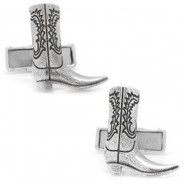 Cowboy Boot Cufflinks, Sterling Silver