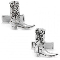 Cowboy Boot Cufflinks | Sterling Silver Cuff Links | Engraveable | Personalized Initials-Cufflinks-Sterling-and-Burke