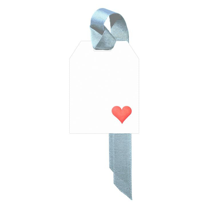 Red Heart Gift Tags, Set of 5 by Dempsey and Carroll-Stationery-Sterling-and-Burke