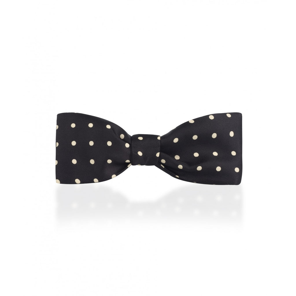 Classic Large Spot Batswing Braid Bow Tie | Budd Shirtmakers | Made in England-Bow Tie-Sterling-and-Burke