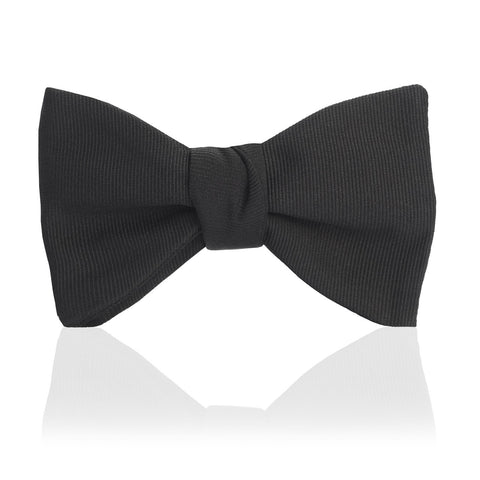 Budd Plain Faille Self Tie Adjustable Thistle Bow Tie in Black or Royal Blue