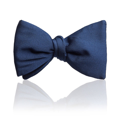 Budd Plain Faille Self Tie Adjustable Thistle Bow Tie in Black or Royal Blue-Bow Tie-Sterling-and-Burke