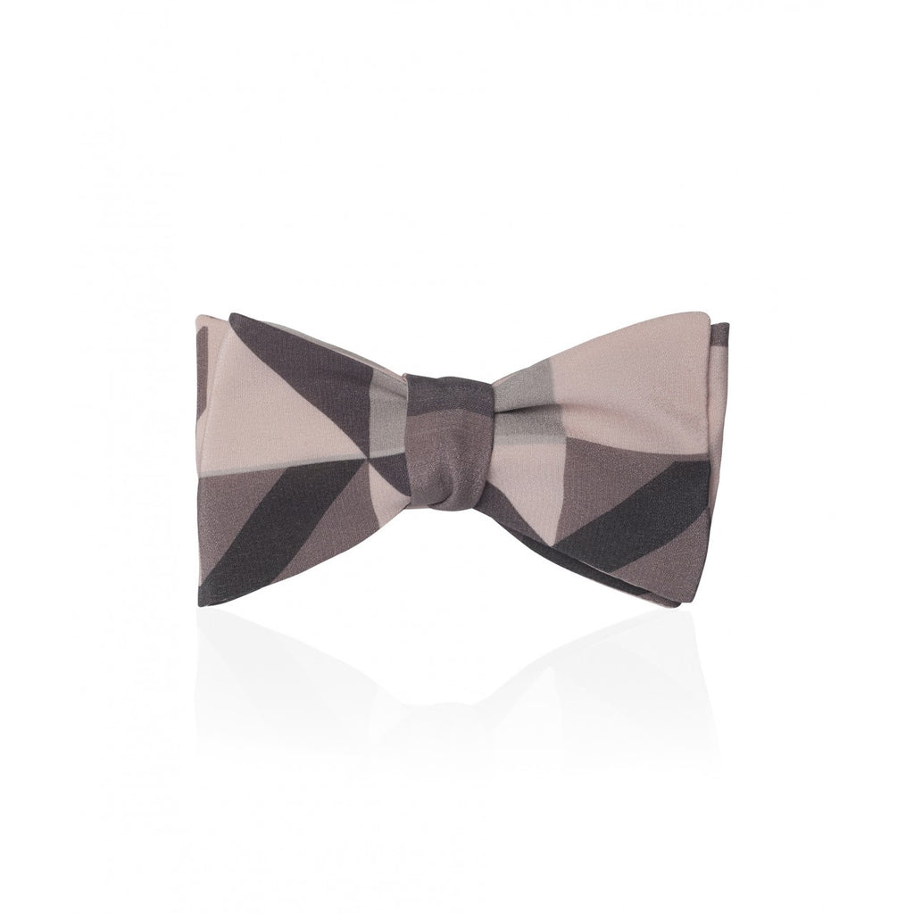 Triangles Gaudion Thistle Bow Tie | Grey | Budd Shirtmakers | Made in England-Bow Tie-Sterling-and-Burke