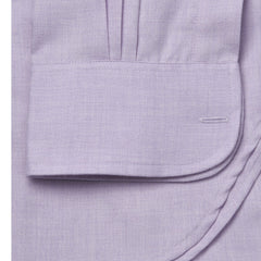 Budd Classic Fit Small Herringbone Cotton & Cashmere Button Cuff Shirt in Lilac-Ready Made Shirt-Sterling-and-Burke