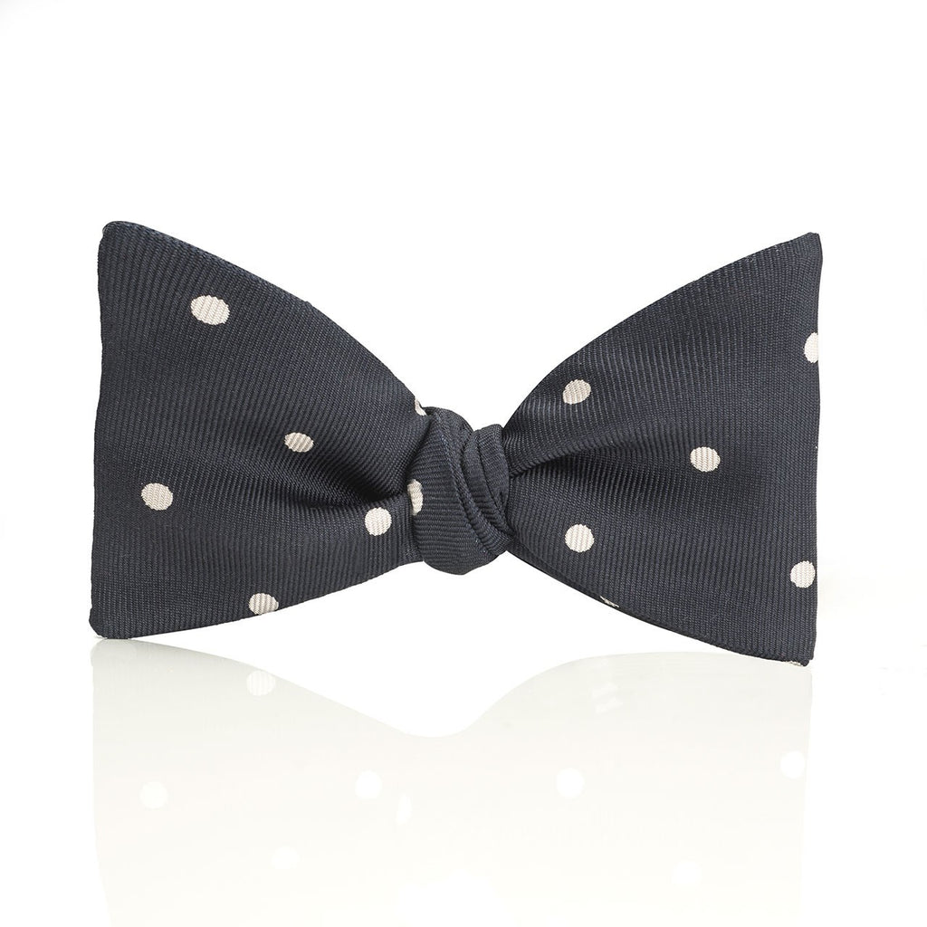 Churchill Spot Thistle Bow Tie | Budd Shirtmakers | Made in England-Bow Tie-Sterling-and-Burke