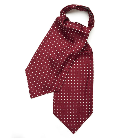 Budd Medium Spot Silk Ascot Tie