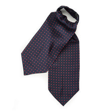 Load image into Gallery viewer, Budd Medium Spot Silk Ascot Tie-Ascot / Cravat-Sterling-and-Burke