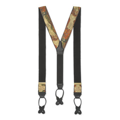 Budd Gustav Klimt's Water Serpents II Limited Edition Silk Braces in Gold-Braces / Suspenders-Sterling-and-Burke