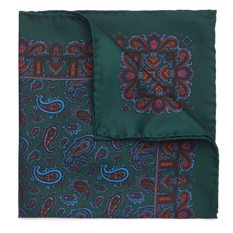 Budd Medium Paisley Madder Silk Pocket Square, Various Colors-Pocket Square-Sterling-and-Burke