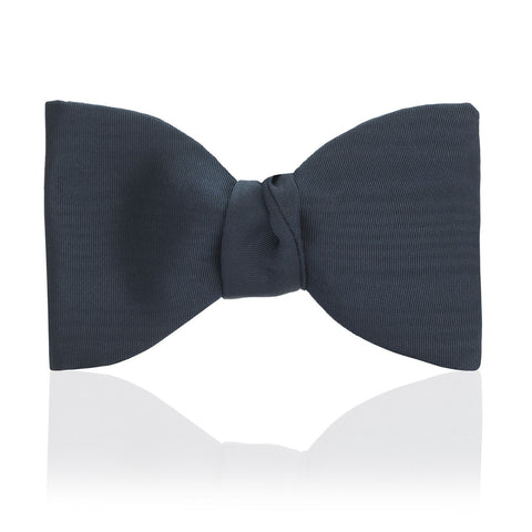 Moire Thistle 2.5 Inch Bow Tie, Royal Blue | Ready Made | Budd Shirtmakers | Made in England