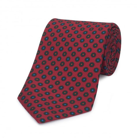 Neat Flower Madder Tie | Budd Shirtmakers | Made in England