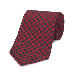 Budd Neat Flower Madder Tie, Various Colors-Necktie-Sterling-and-Burke